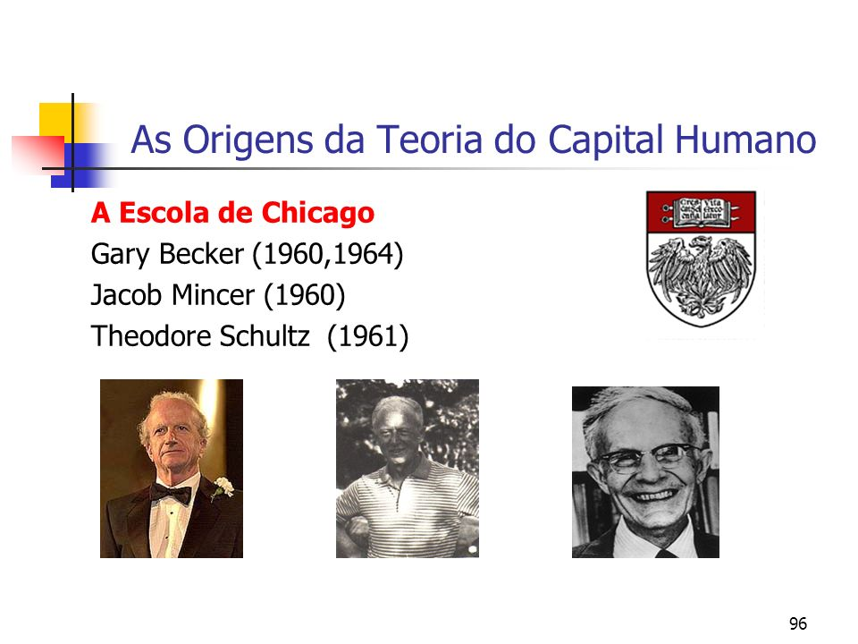 As Origens da Teoria do Capital Humano