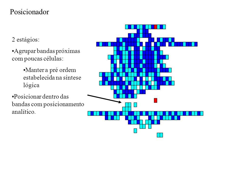 Posicionador 2 estágios: Agrupar bandas próximas com poucas células: