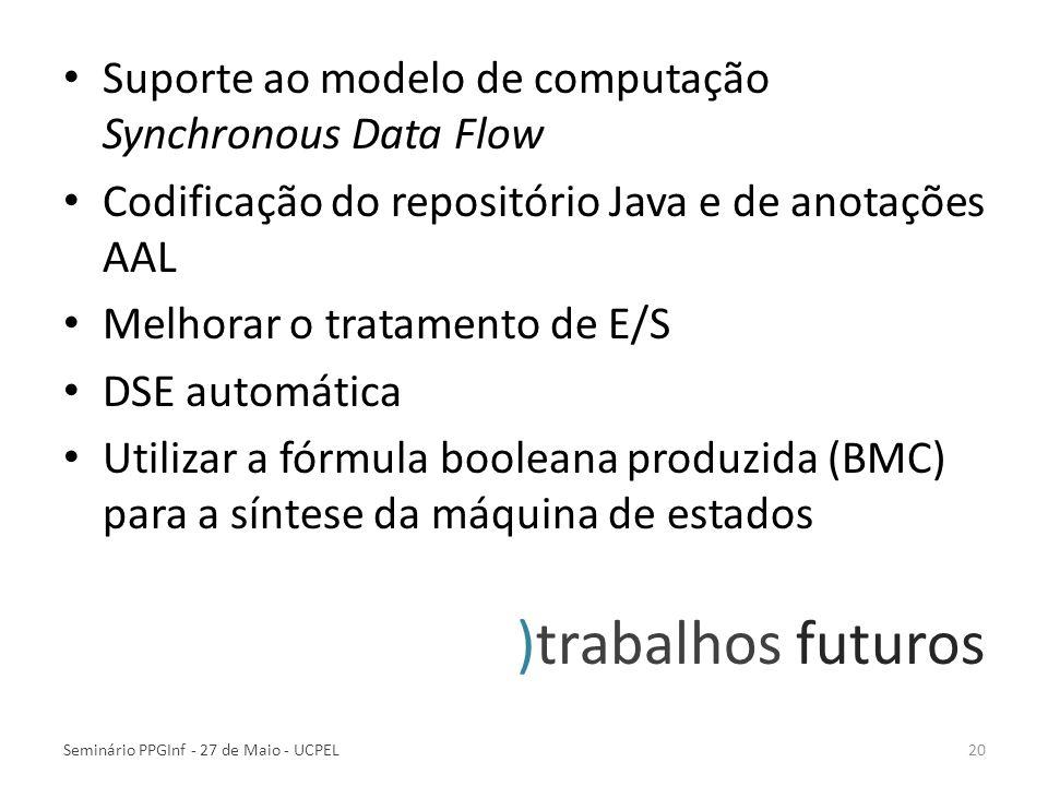 Suporte ao modelo de computação Synchronous Data Flow