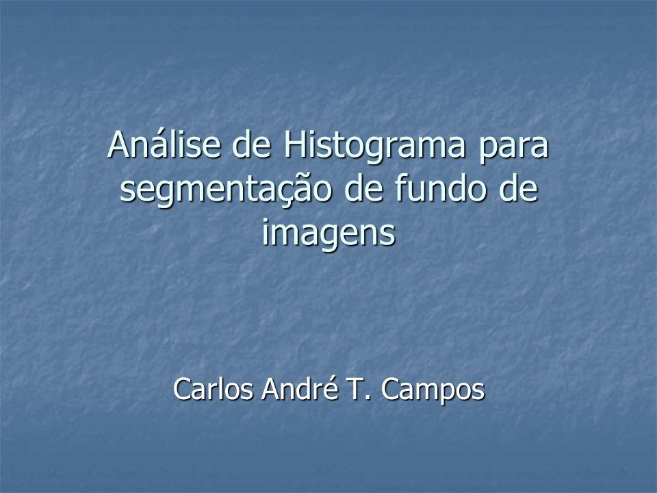 Análise de Histograma para segmentação de fundo de imagens