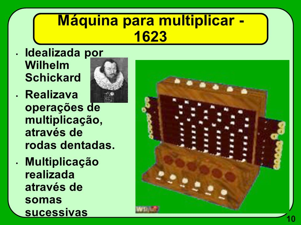 Máquina para multiplicar - 1623