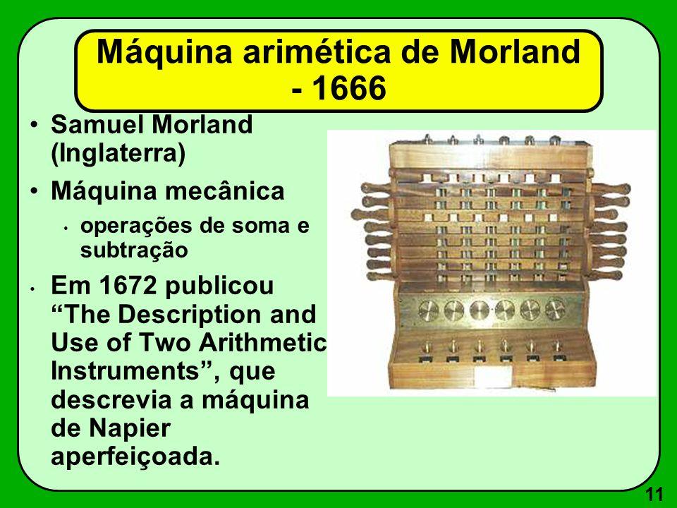 Máquina arimética de Morland - 1666