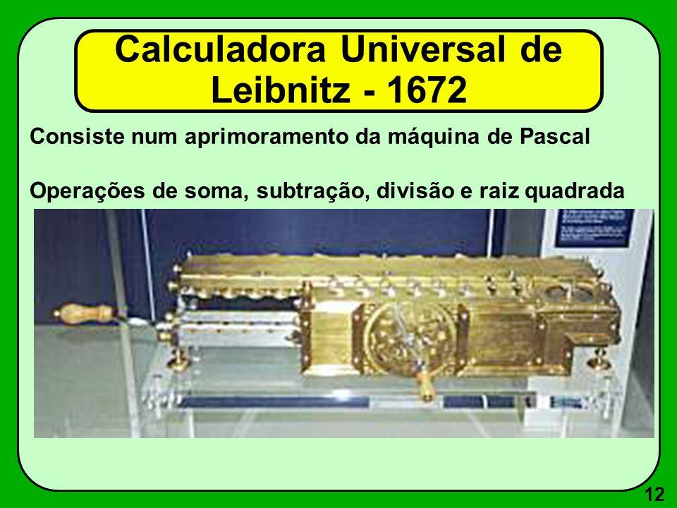 Calculadora Universal de Leibnitz - 1672