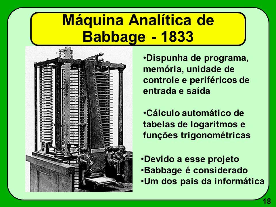 Máquina Analítica de Babbage - 1833