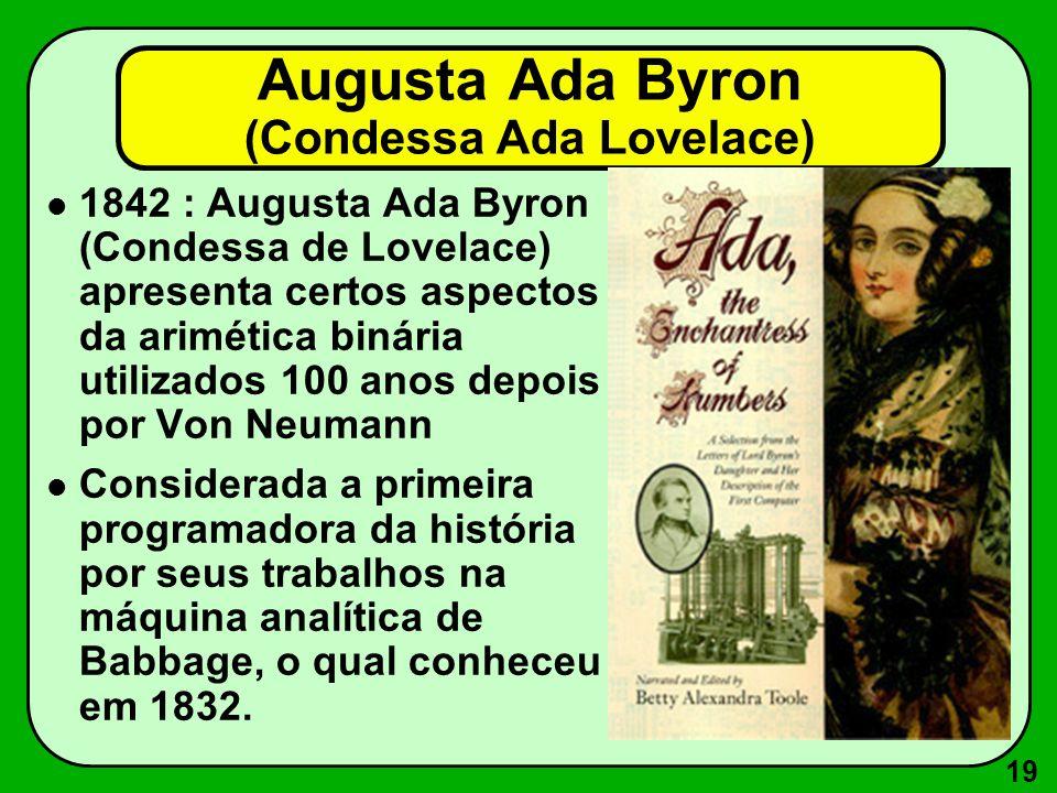 Augusta Ada Byron (Condessa Ada Lovelace)