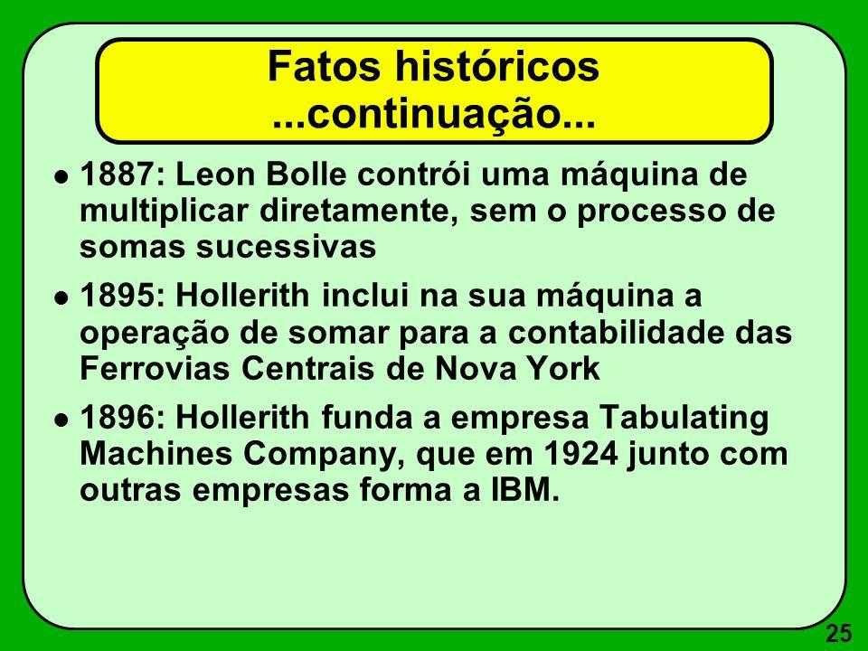 Fatos históricos ...continuação...