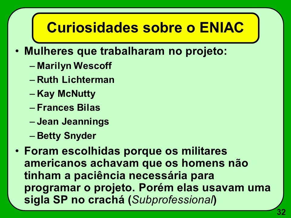 Curiosidades sobre o ENIAC