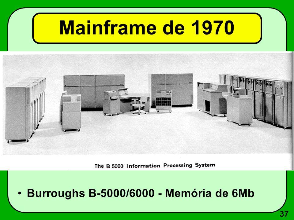 Mainframe de 1970 Burroughs B-5000/6000 - Memória de 6Mb