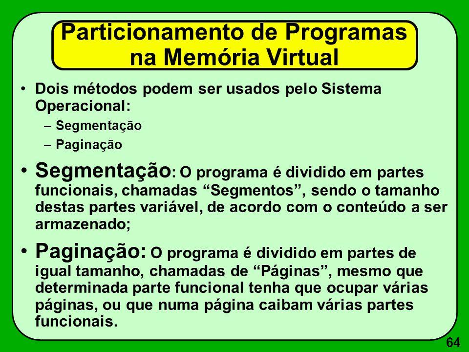 Particionamento de Programas na Memória Virtual