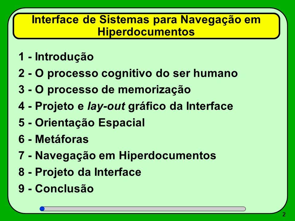 Interface de Sistemas para Navegação em Hiperdocumentos
