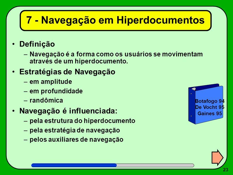 7 - Navegação em Hiperdocumentos