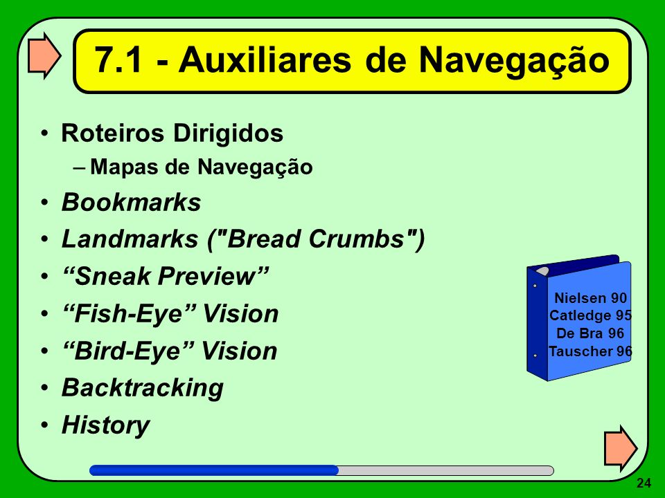 7.1 - Auxiliares de Navegação