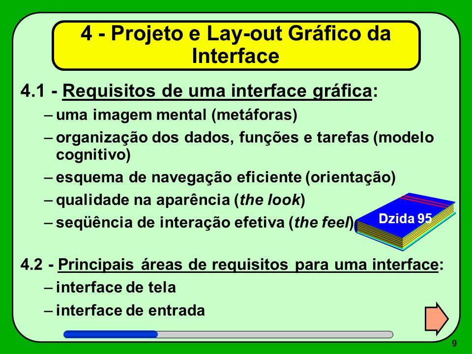 4 - Projeto e Lay-out Gráfico da Interface