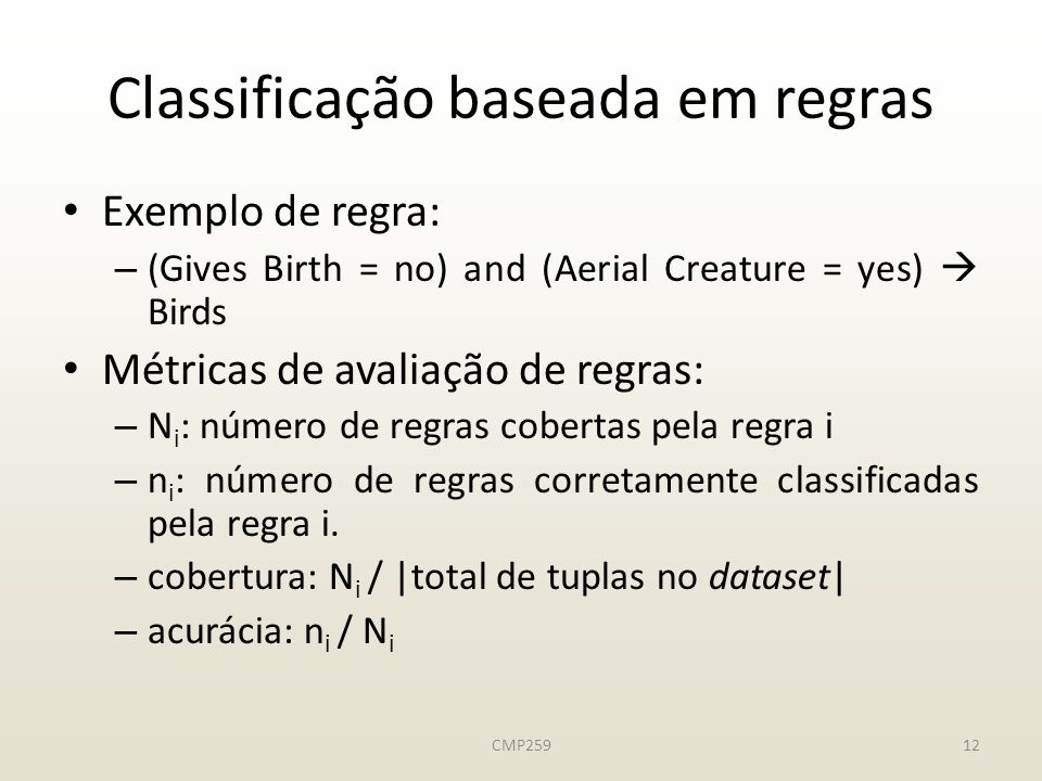 Classificação baseada em regras