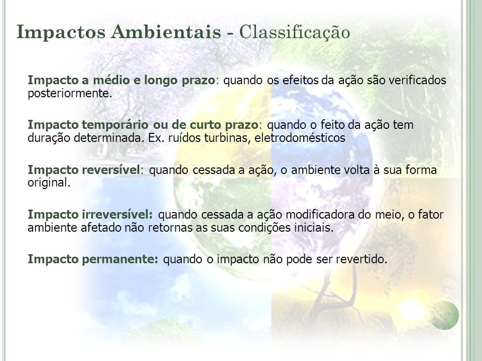 Impactos Ambientais - Classificação