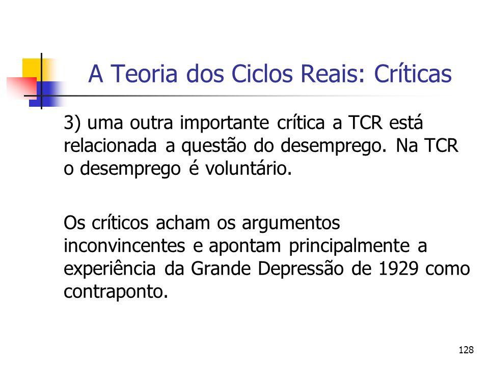 A Teoria dos Ciclos Reais: Críticas
