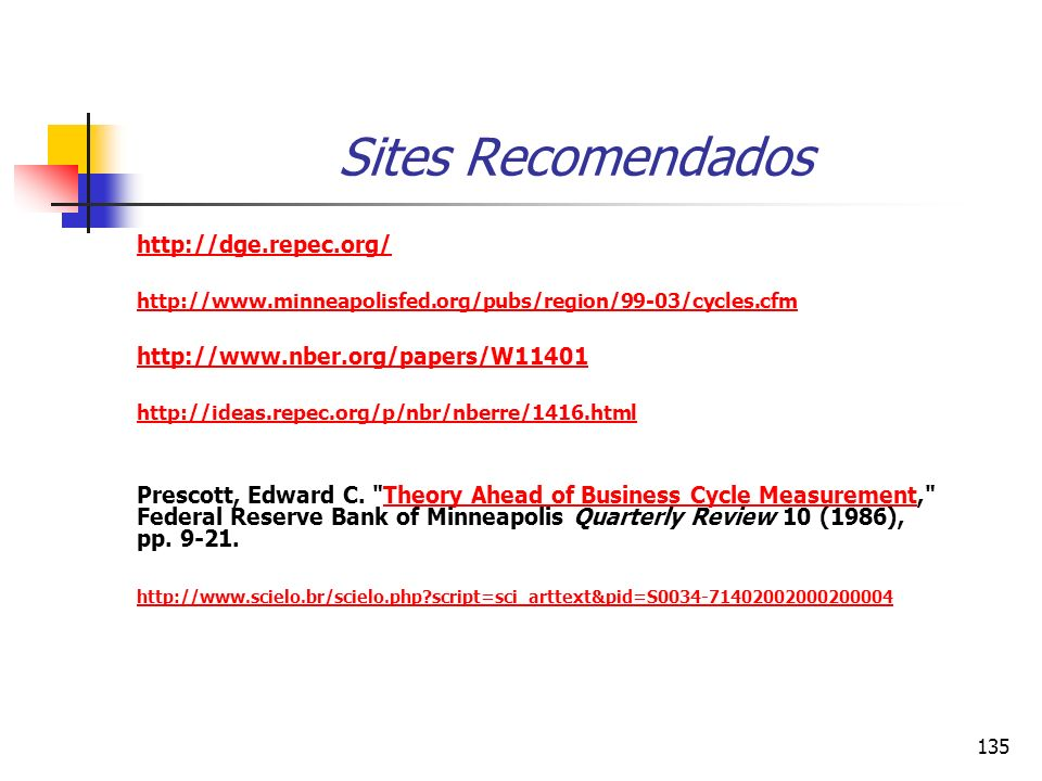 Sites Recomendados http://dge.repec.org/