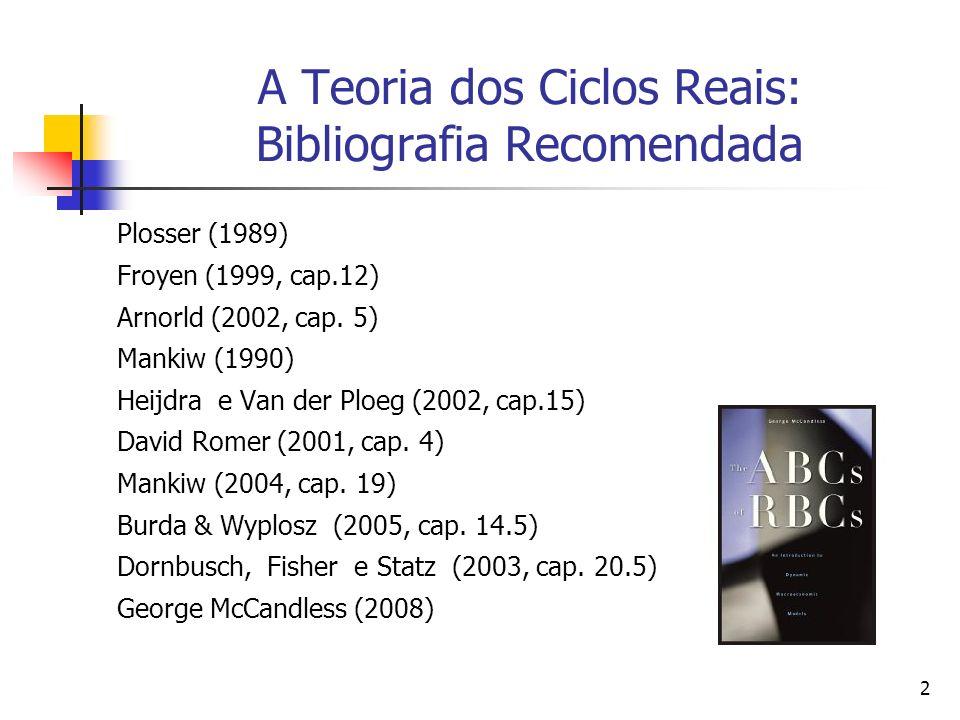 A Teoria dos Ciclos Reais: Bibliografia Recomendada