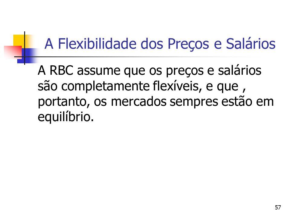 A Flexibilidade dos Preços e Salários