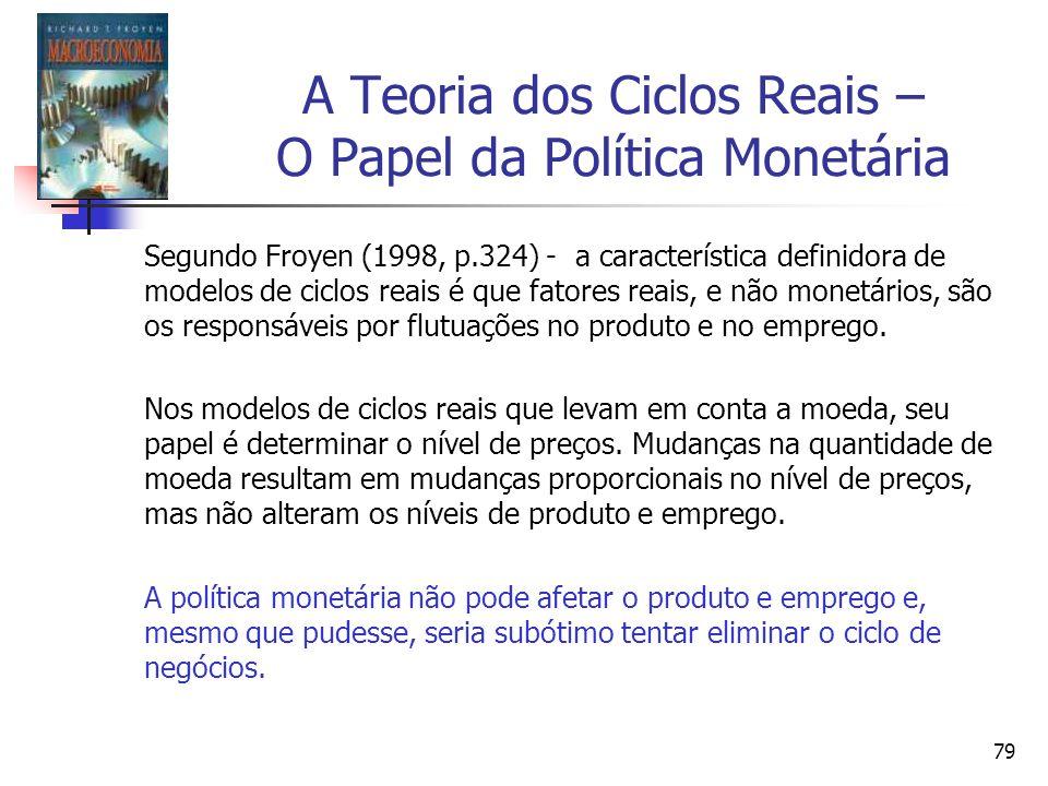 A Teoria dos Ciclos Reais – O Papel da Política Monetária