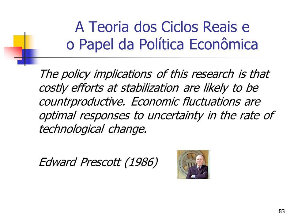 A Teoria dos Ciclos Reais e o Papel da Política Econômica