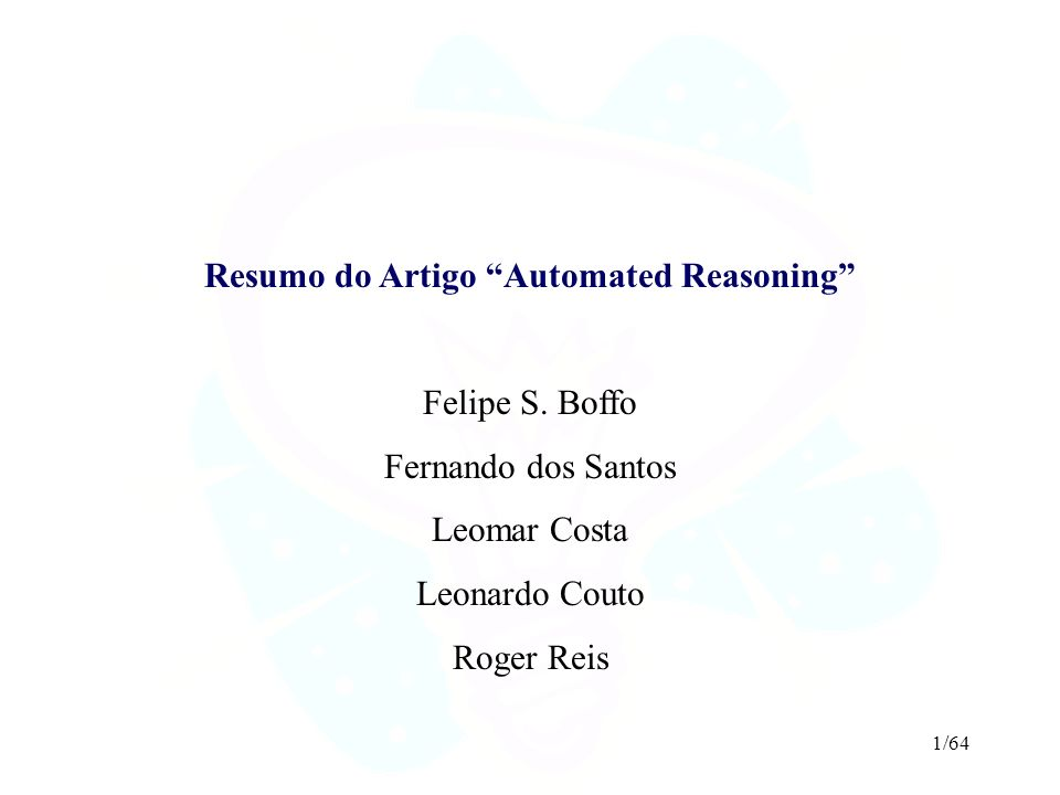 Resumo do Artigo Automated Reasoning