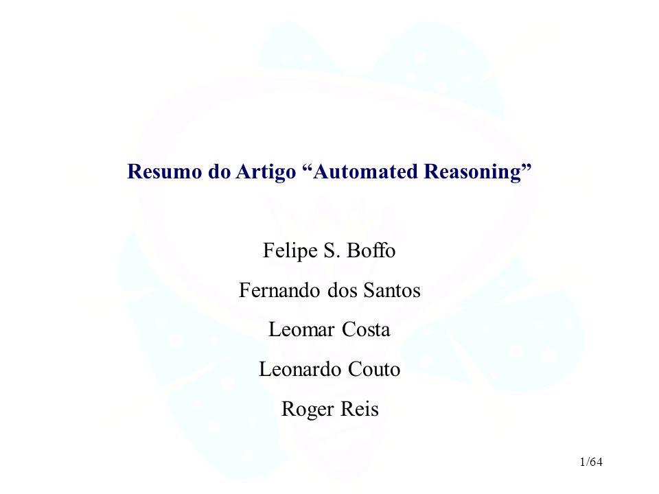 Resumo do Artigo Automated Reasoning