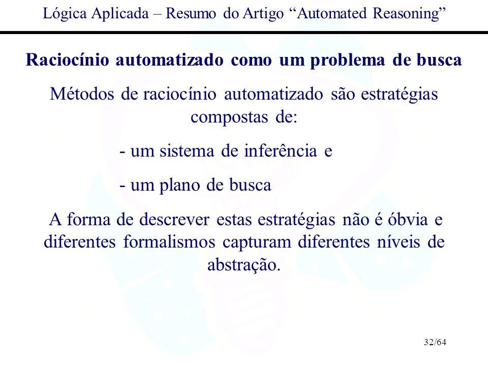 Raciocínio automatizado como um problema de busca