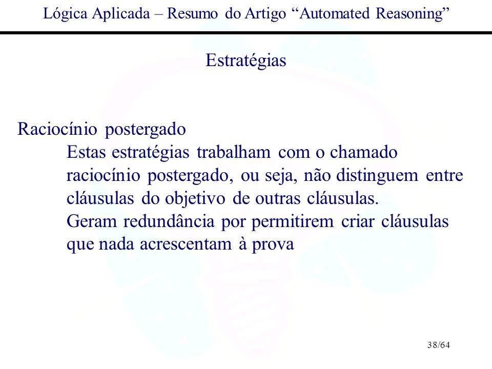 Lógica Aplicada – Resumo do Artigo Automated Reasoning