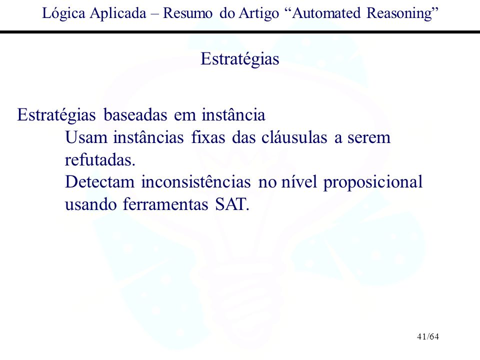 Lógica Aplicada – Resumo do Artigo Automated Reasoning