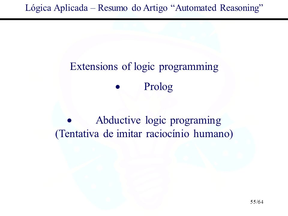 Extensions of logic programming · Prolog
