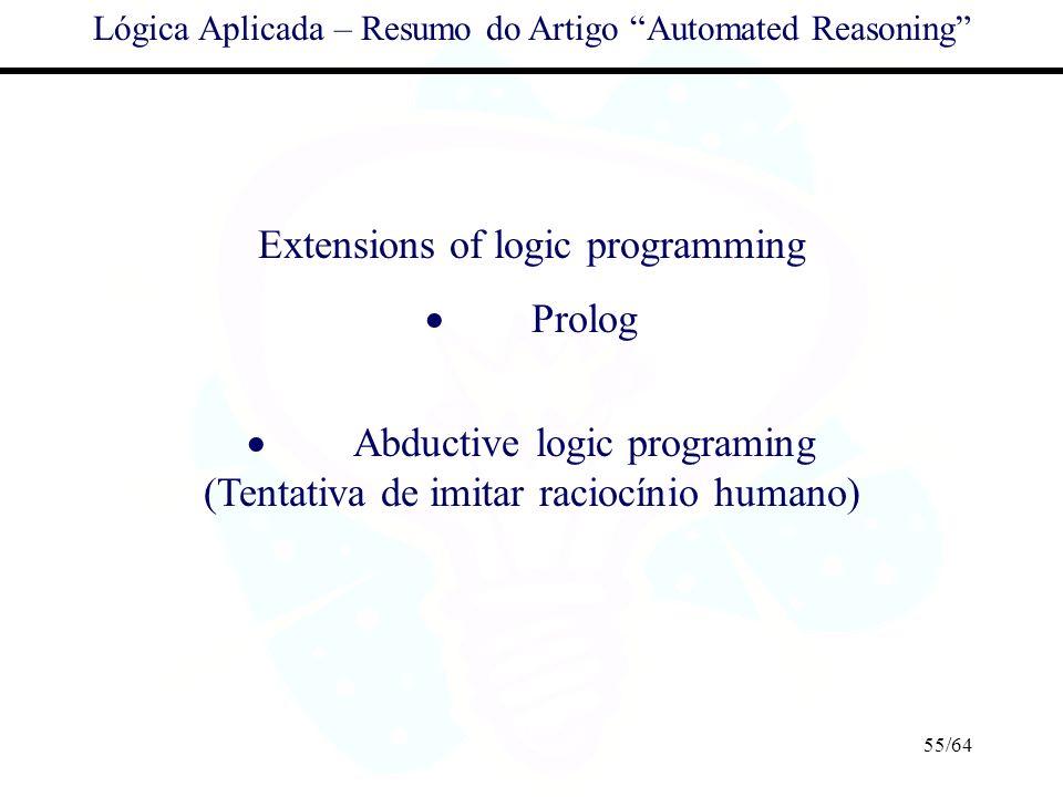 Extensions of logic programming · Prolog