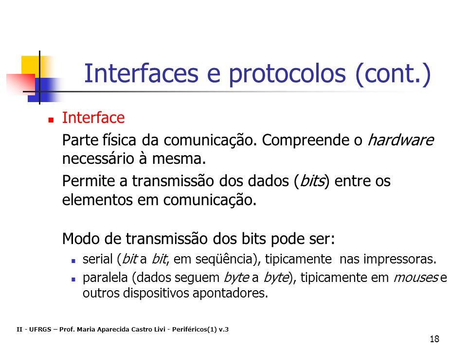 Interfaces e protocolos (cont.)