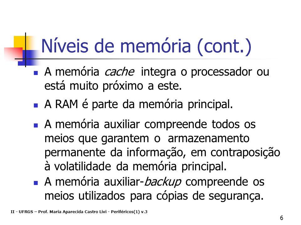 Níveis de memória (cont.)