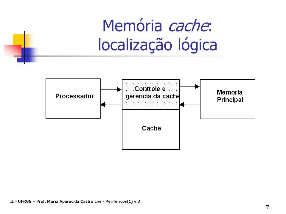 Memória cache: localização lógica
