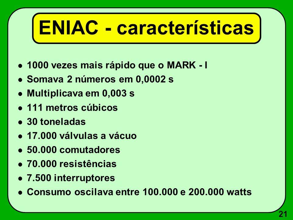 ENIAC - características
