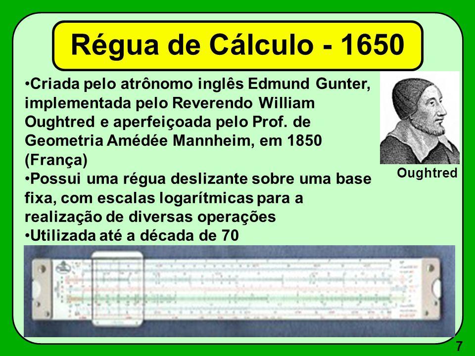 Régua de Cálculo - 1650