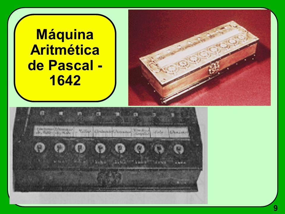 Máquina Aritmética de Pascal - 1642