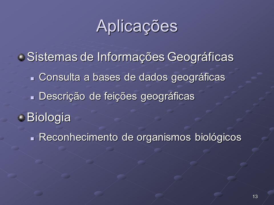 Aplicações Sistemas de Informações Geográficas Biologia