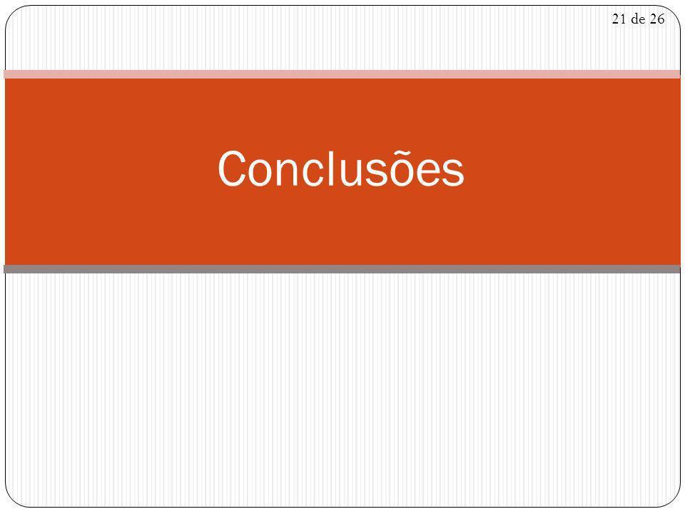 21 de 26 Conclusões
