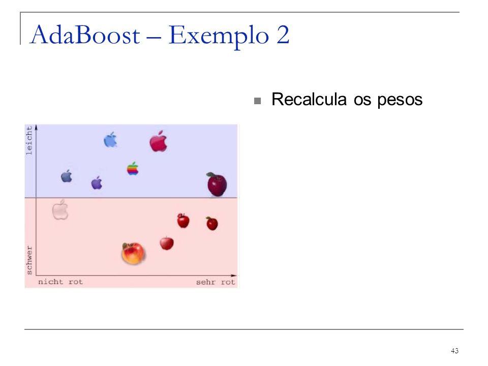 AdaBoost – Exemplo 2 Recalcula os pesos
