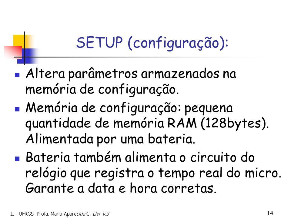 SETUP (configuração):