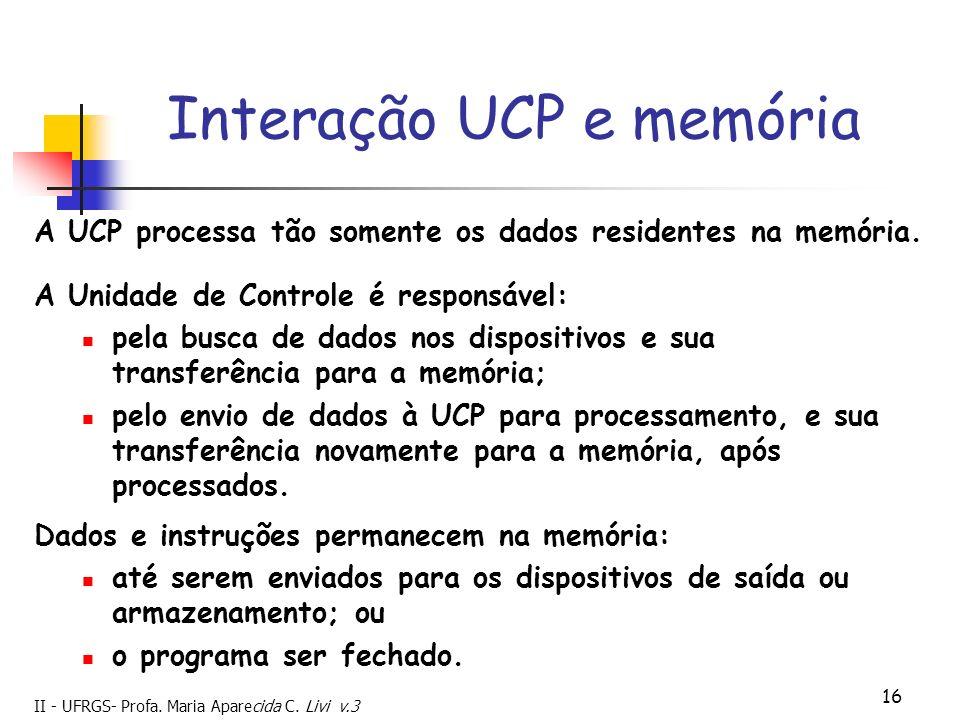 Interação UCP e memória
