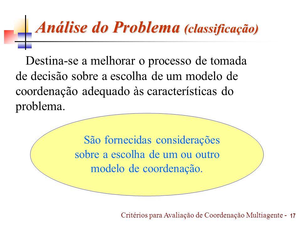 Análise do Problema (classificação)