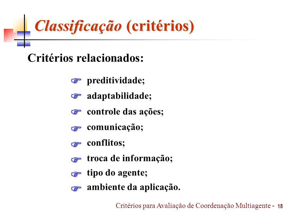Classificação (critérios)