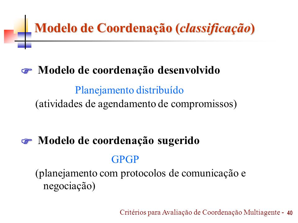 Modelo de Coordenação (classificação)