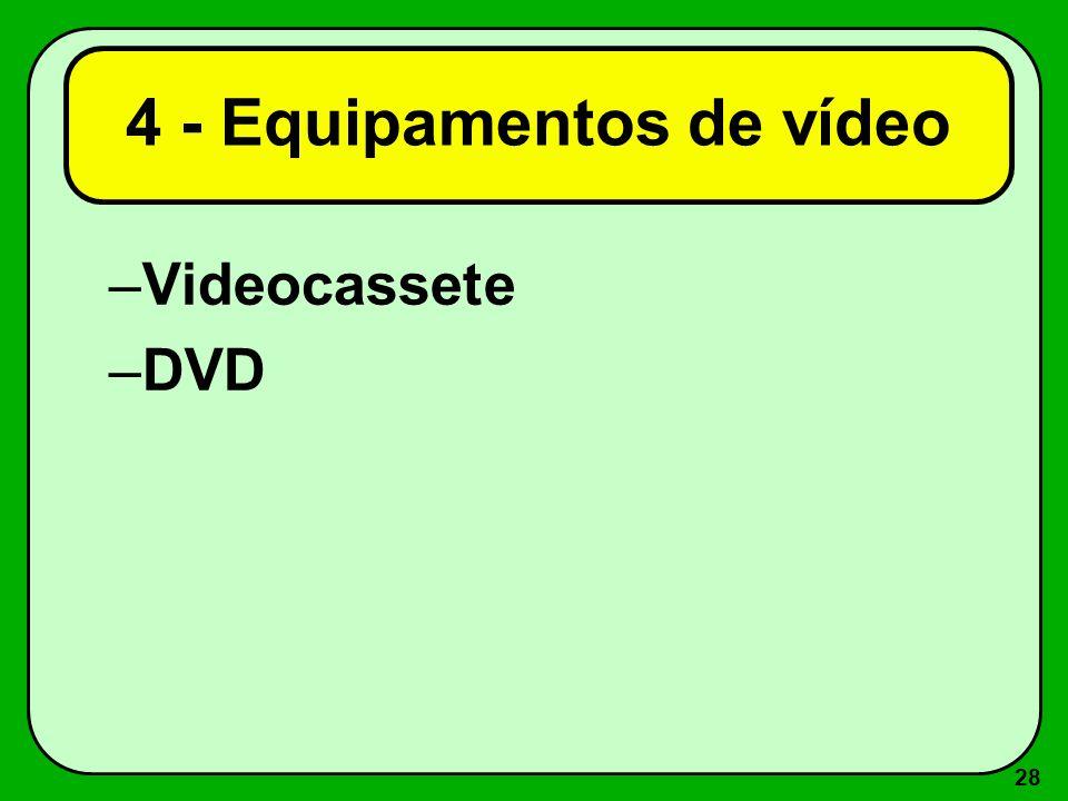 4 - Equipamentos de vídeo