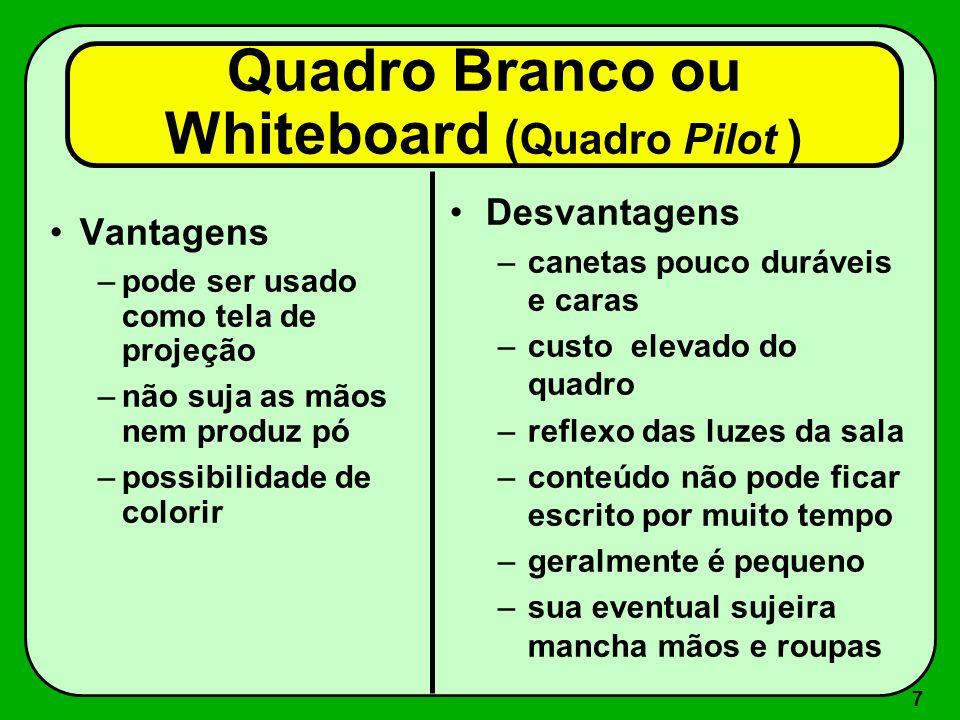 Quadro Branco ou Whiteboard (Quadro Pilot )