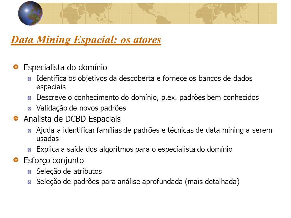Data Mining Espacial: os atores
