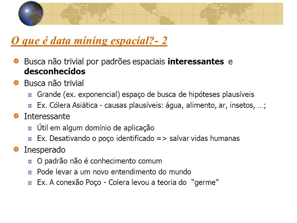 O que é data mining espacial - 2